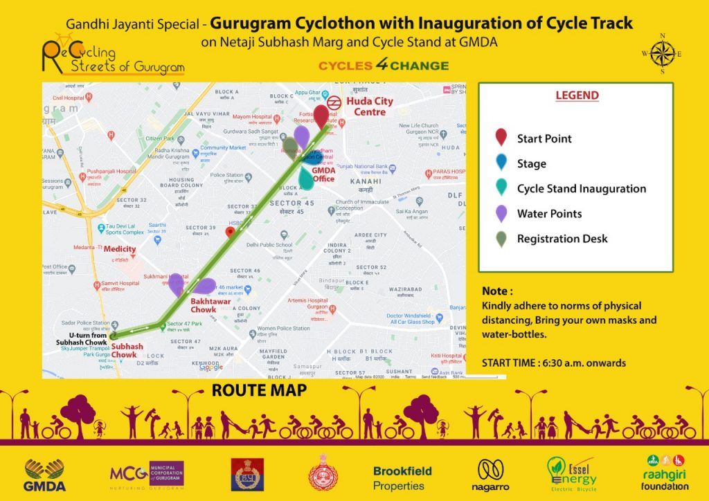 cycle track gurgaon route